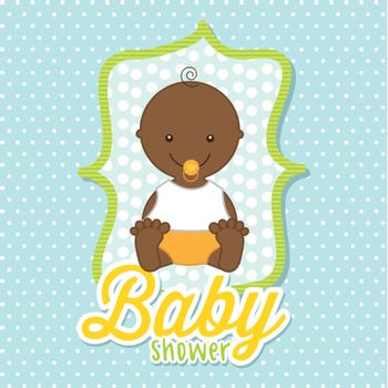 baby boy over blue background. vector illustration