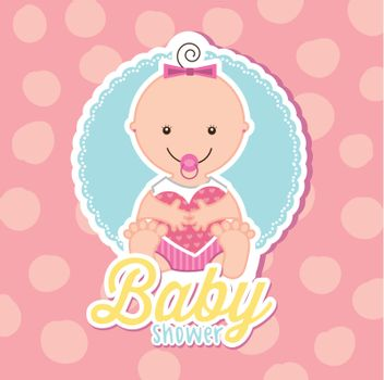 baby over white background. vector illustration