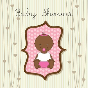 baby girl over beige background. vector illustration