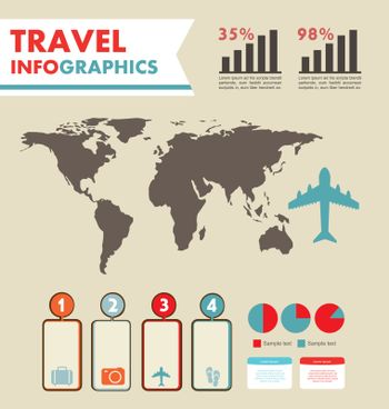infographics set with different elements . vector illustration