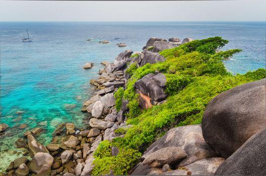 Similan island beautiful ocean coast view in Andaman Sea