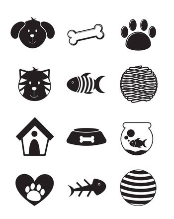 pets icons over white background. vector illustration