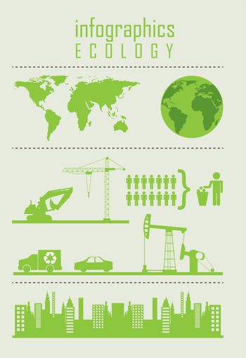 infographics of ecology, vintage style. vector illustration