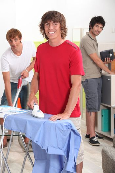 Guys doing housework