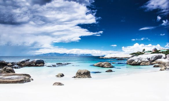 Paradise beach panoramic landscape