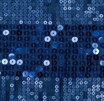 blue sequin background