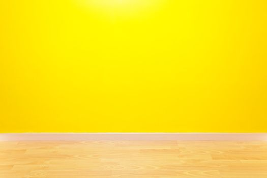 yellow wall and parquet in the apartments