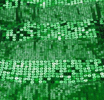 green sequin background