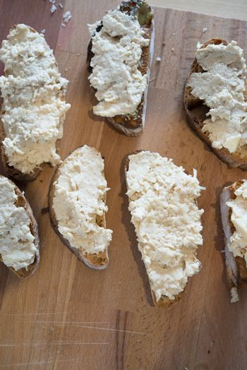 Appetizers with Camembert