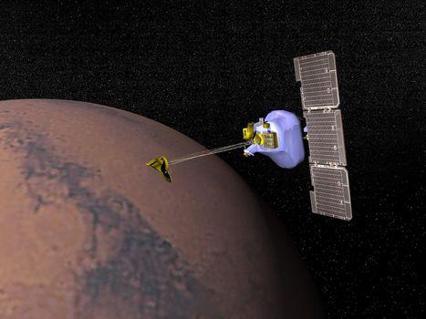 Mars odyssey - 3D render
