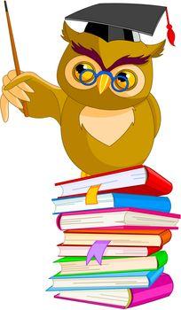 Cartoon Wise Owl