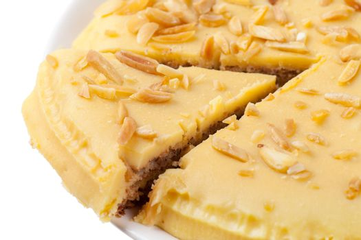 Closeup view of piece of sweet pie