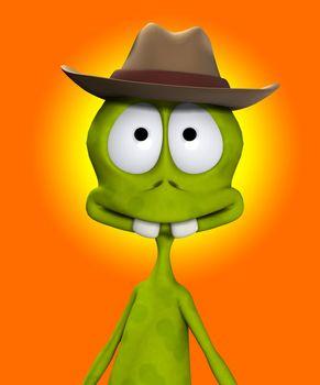 Alien In Cowboy Hat