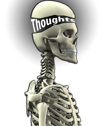 Skeleton With Open Thoughts