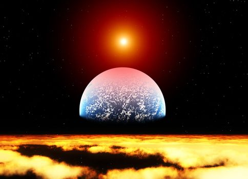 Planet In Space
