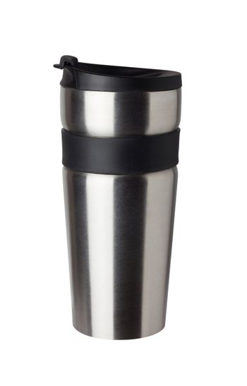 Thermos travel tumbler, cup. Closeup.