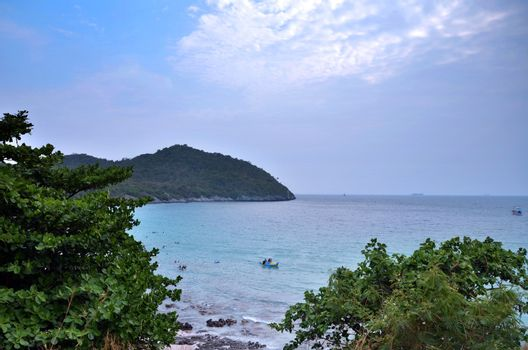 Si Chang island in Thailand. Travel by sea.