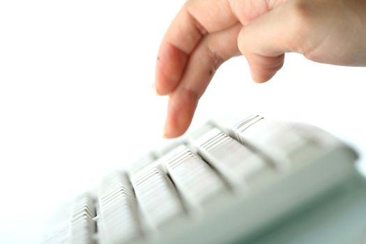 girl typing