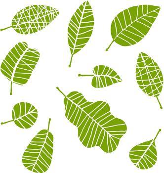 Set of leaf sketch for you design