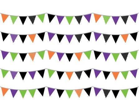 Colorful halloween bunting for your event! Vector        Halloween flags or bunting isolated on white