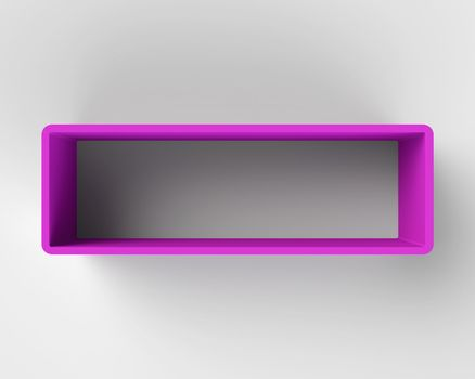 Modern Purple Book Shelf on the Wall