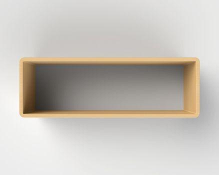 Modern Wooden Book Shelf on the Wall