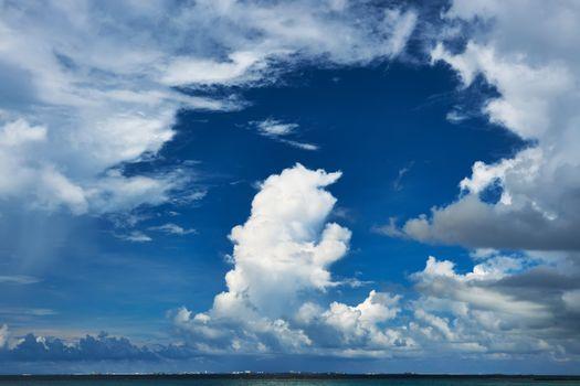 Beautiful cloudscape at Maldives