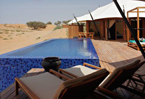 Peaceful relaxing territory on resort