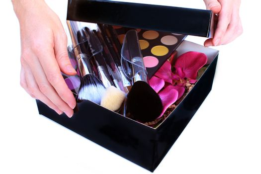 Gift Box with makeup inside