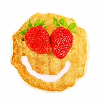 Pancake with smiley face