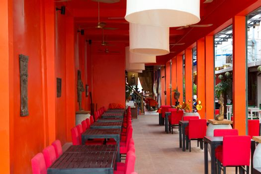 Oriental restaurant in orange clearance in Cambodia