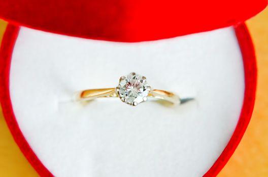 Solitaire Diamond Ring in Box