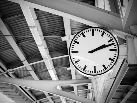 Public clock in railway station