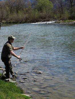 fisherman on river
