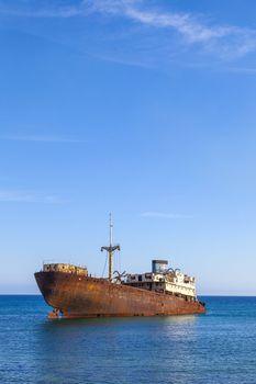 Shipwreck near Costa Teguise, Lanzarote, Canary Islands, Spain