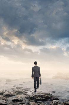 walk into ocean