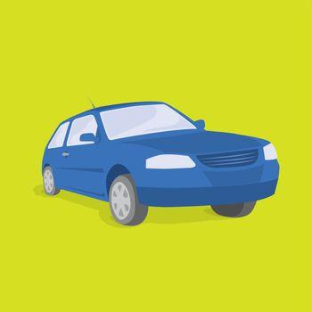 Blue car / Land Transportation Vehicle