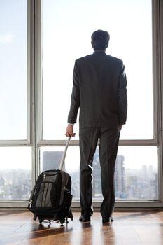Businessman Holding Luggage
