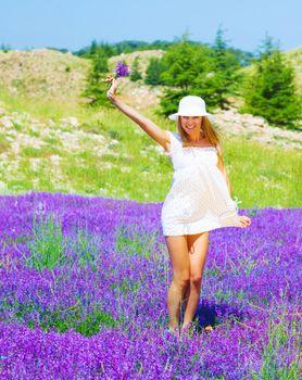 Girl on lavender glade