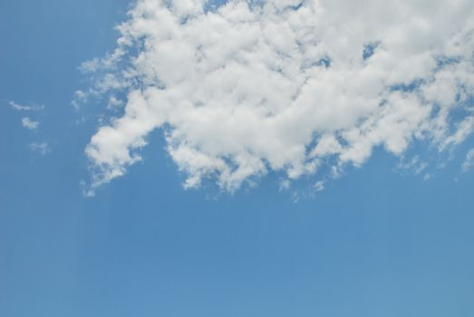 Texture of the blue sky with cloudscape
