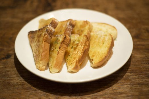 toasted bread on plate