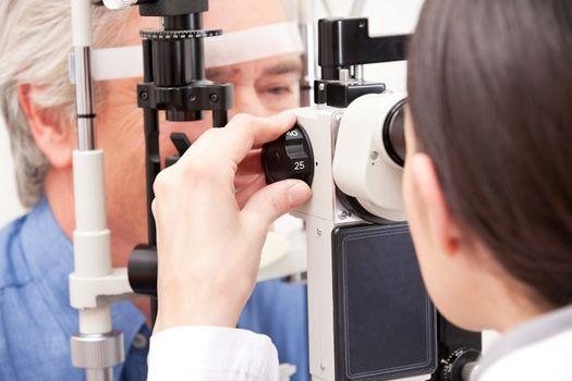 Optometrist Doing Sight Testing