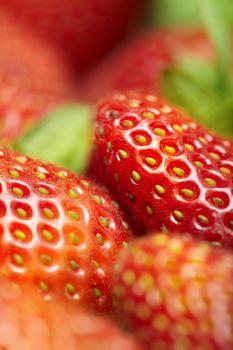 Fresh strawberry. Close-up colorful photo