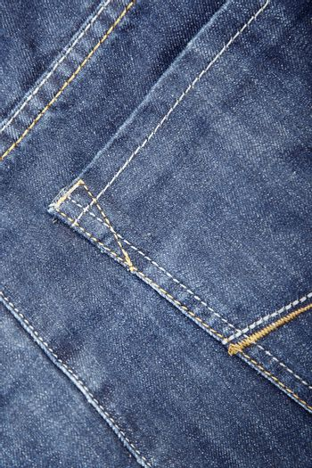 Blue jeans with pocket. Close-up photo