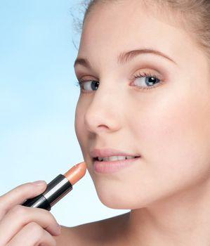 Lips zone make up by lipstick