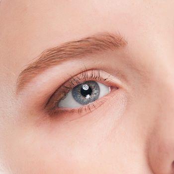 Part of woman face: closeup eye