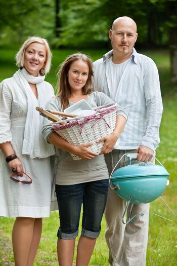 Family All Set For Weekend Picnic