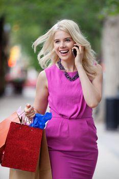 Shopaholic Woman On A Call