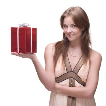 Beautiful girl with some gifts