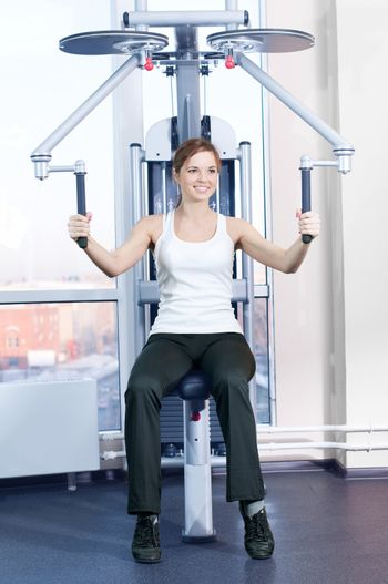 Young woman at the gym